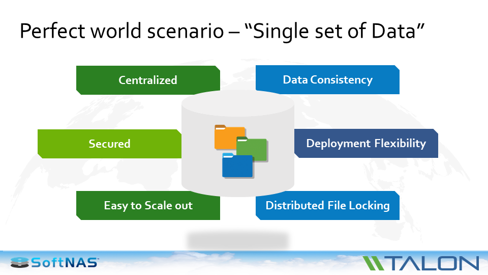 cloud file server consolidation unstructured data